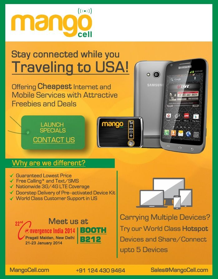 Postpaid SIM Card, USA Roaming SIM Cards - Mangocell.com