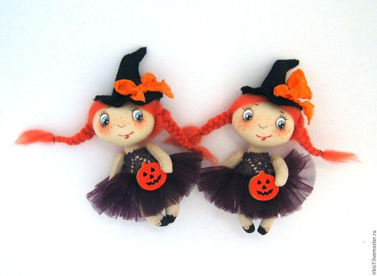 """Купить Брошки """"Хэллоуин"""" - комбинированный, ведьма, ведьмочка, хелоуин, тыква, тыковка, колпаки, колпак, волшебство"""