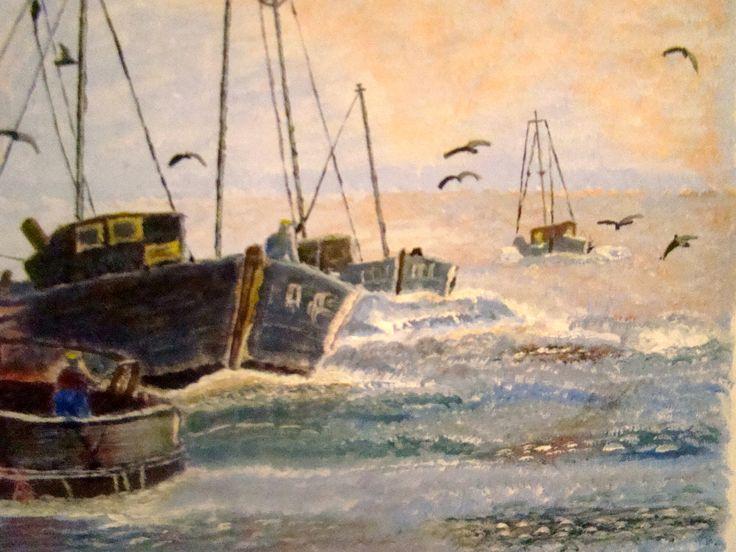 #ArtSetFree-Fishing Fleet off Brittany Coast France