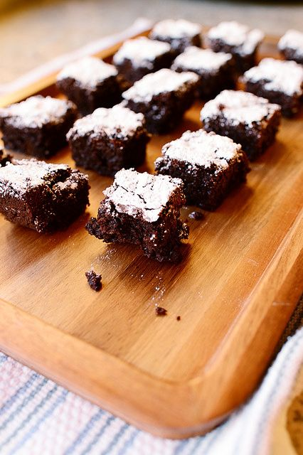 Ok so these are very good... But extreeeeemely rich almost too rich for me!!!! And 40 min was almost a few min too long the crust edge could have been softer just my opinion..... Dark Chocolate Brownies by Ree Drummond / The Pioneer Woman
