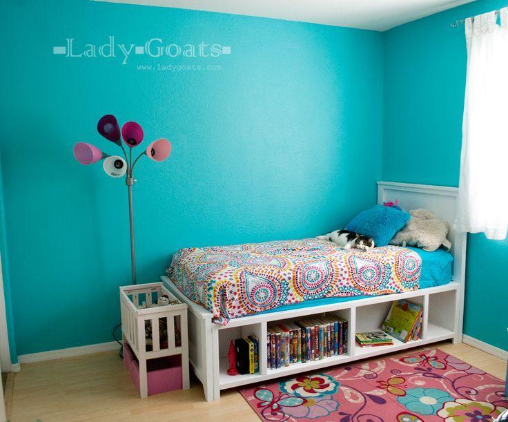 42 diy recycled pallet bed frame designs diy pinterest for Recycled pallet bed frame