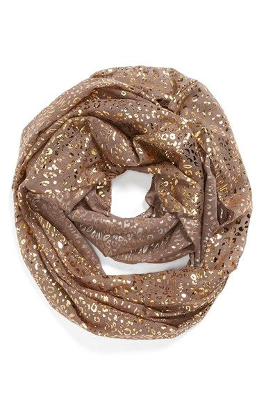Capelli+of+New+York+Metallic+Cheetah+Print+Infinity+Scarf+(Juniors)+available+at+#Nordstrom