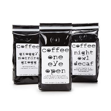 Look what I found at UncommonGoods: Morning, Noon and Night Coffee for $11.95 #uncommongoods