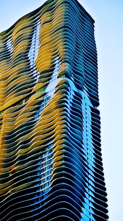 Aqua Building - Chicago, Illinois.  First sky scraper designed by a female in Chicago.