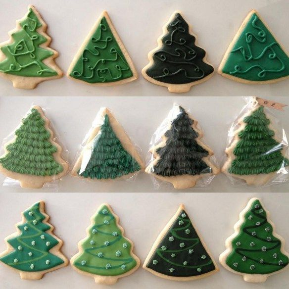 Christmas Tree Decorated Cookies: Christmas Tree Decorated Cookies