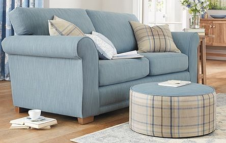 Next comfy Toulouse Large Sofa (3 Seats) with a Soft Texture Powder Blue finish....nice.
