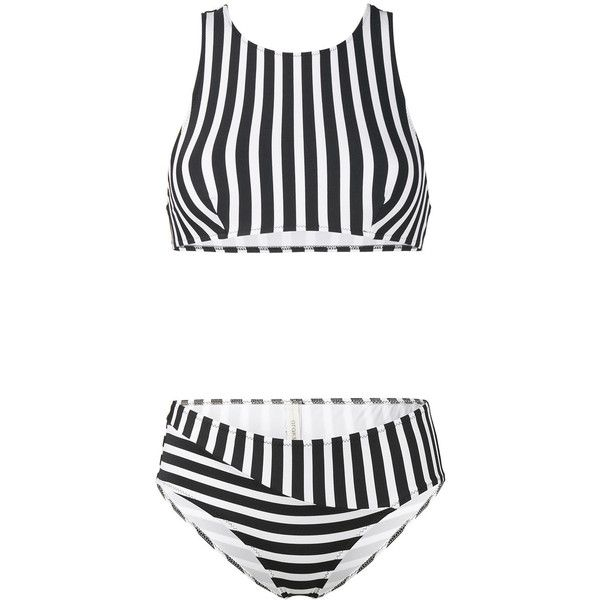 Araks Striped Joy Bikini featuring polyvore women's fashion clothing swimwear bikinis blue stripe bikini striped swimwear bikini two piece araks swimwear bikini swim wear