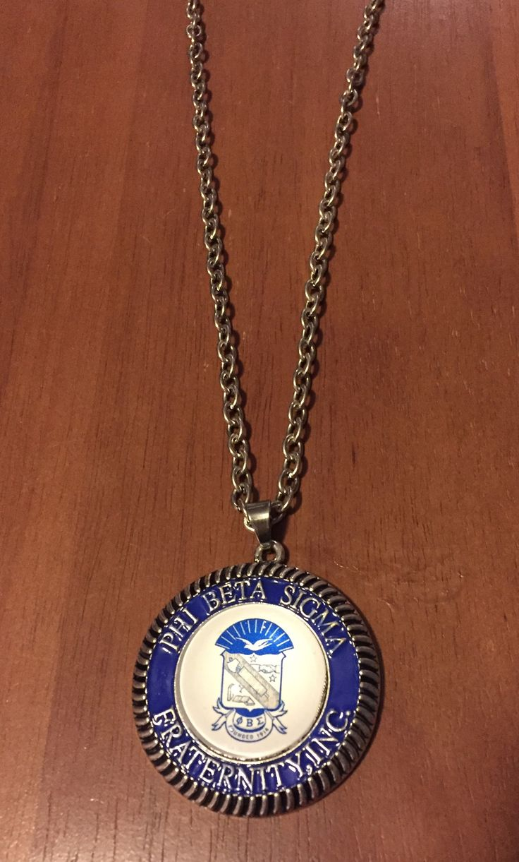 Phi Beta Sigma Fraternity shield necklace - $24.99 - available in the other black Greek fraternity colors | Shop this product here: spreesy.com/Ladybsdollarplus/12 | Shop all of our products at http://spreesy.com/Ladybsdollarplus | Pinterest selling powered by Spreesy.com