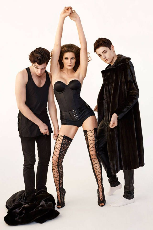 Stephanie Seymour and her stylish sons don't take themselves too seriously. See the exclusive fashion shoot!