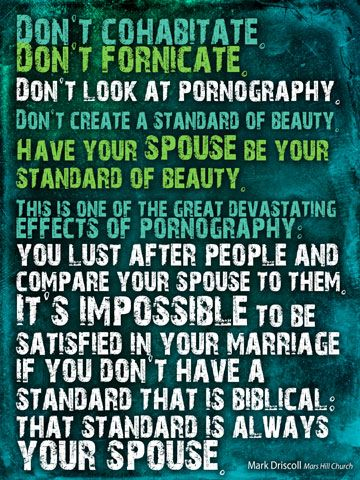 "EVERYONE needs to hear this...quote from Mark Driscoll in his ""Real Marriage"" series"