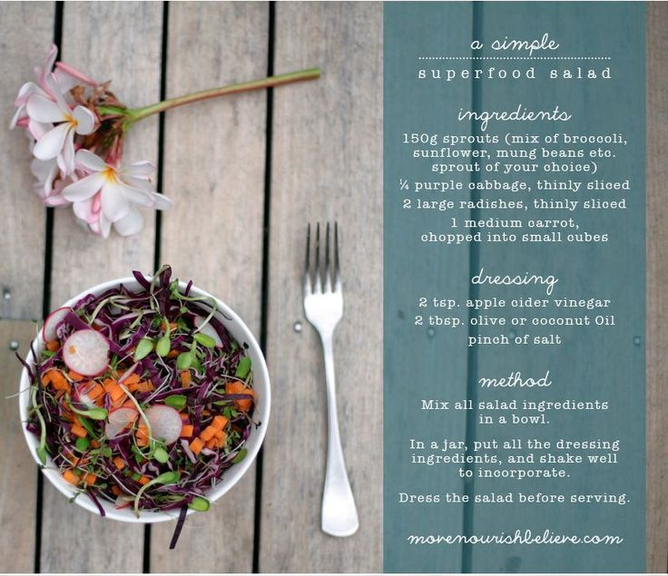Simple Superfood Salad Move Nourish Believe