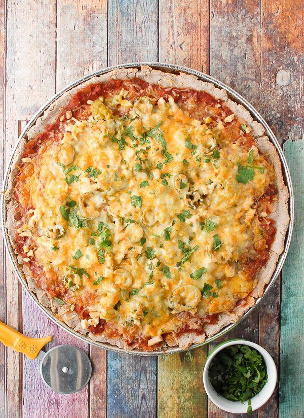 gluten-free blue corn southwestern nachos pizza. for when d comes for dinner! from boulderlocavore.com.