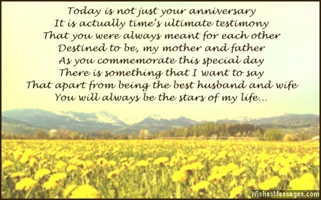 Anniversary Poems for Parents: Happy Anniversary Mom and Dad