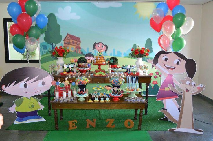 Festa show da Luna  Decoração e doces