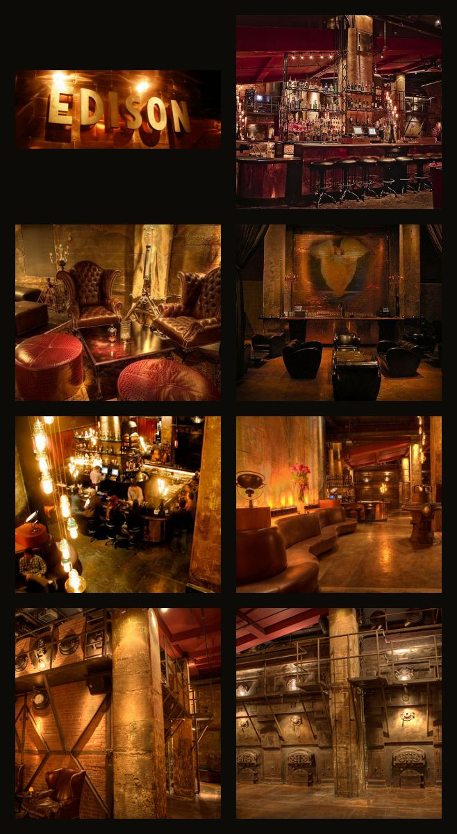 Steampunk Bar | THE EDISON LOUNGE - Located on 108 W 2nd St., Los Angeles, CA 90012