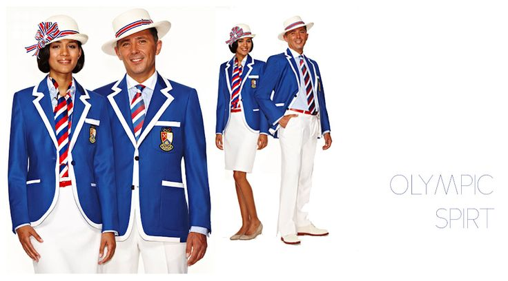 What a fantastic look for an Olympic uniform!