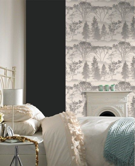 Mirage Wallpaper - Designer Gray Wall Coverings by Graham  Brown- for the bedroom triangle