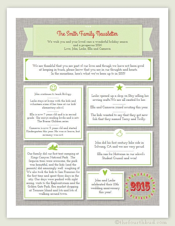 Year in review christmas letter template in pdf for adobe reader this newsletter year in for Adobe newsletter templates