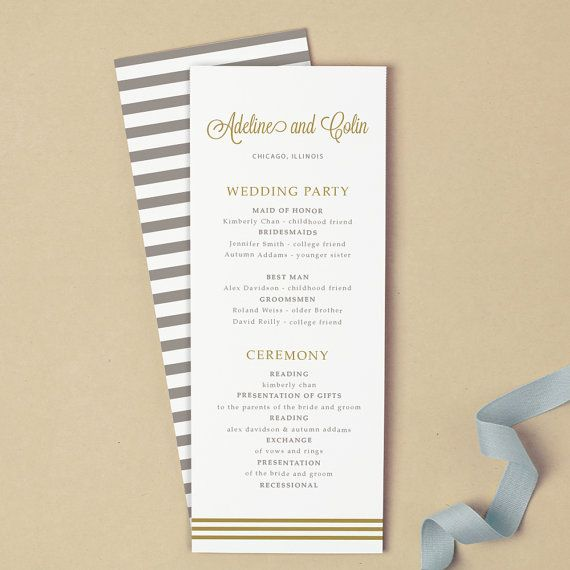 Best 25+ Printable wedding programs ideas on Pinterest | Wedding ...