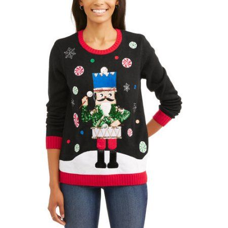 Holiday Time Women's Christmas Sweater Led Swtr, Size: XL, Multicolor
