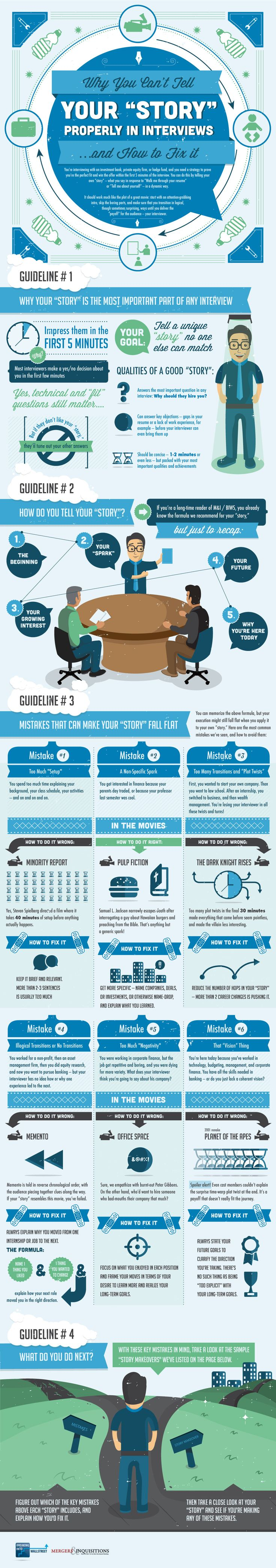 17 best ideas about leadership interview questions why you can t tell your story properly in interviews and how to fix it infographic
