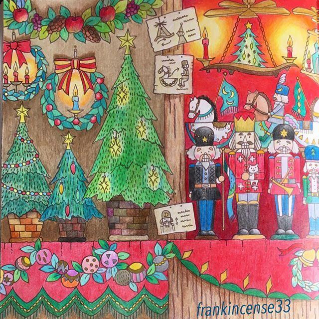 クリスマスマーケット #romanticcountry #romanticcountry3 #eriy #大人の塗り絵 #coloring #colorear #coloringbook #cocotxmas #cocotクリスマス #ロマンティックカントリー