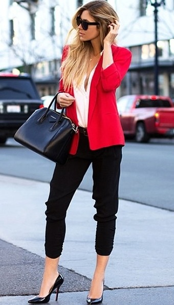Red and black outfit!