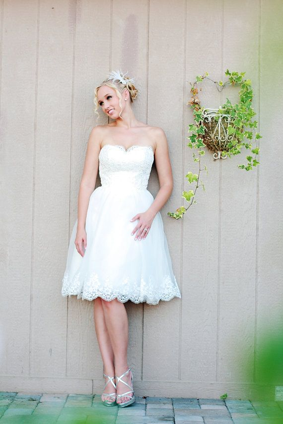 YES YES YES!Camille  Short Wedding Dress Organza an by TheLittleWhiteDress, $488.00