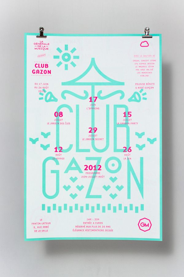Club Gazon   -  www.supersuper.fr by SUPERSUPER , via Behance