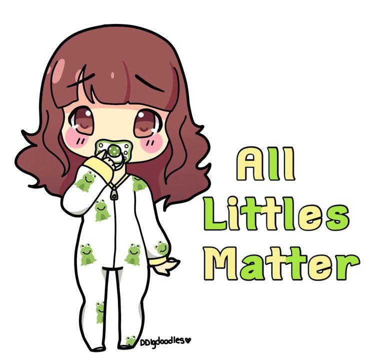 """❤Kawaii Love❤ ~littlecheeriopuff: """" •My edit• Art by - ddlgdoodless """" #ddlg…"""