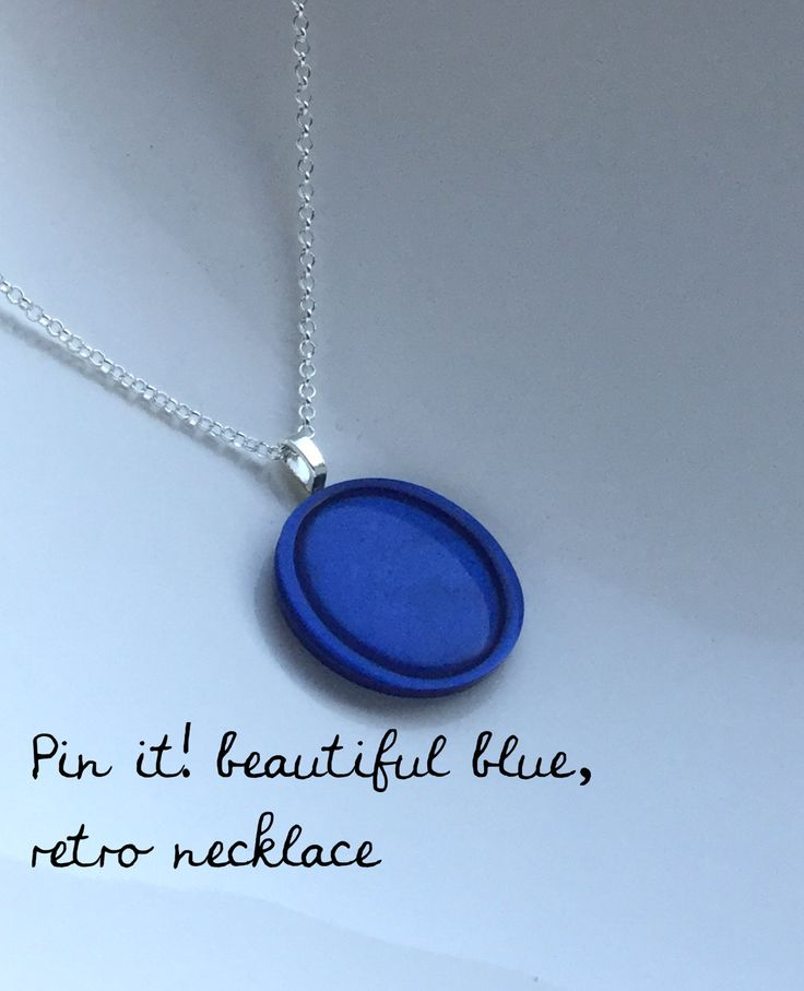 jewellery, necklaces, statement necklace, necklaces for women, Blue pendant, blue necklace, retro necklace, BFF gift, gift for her, mom gift by ButtonupStudio on Etsy