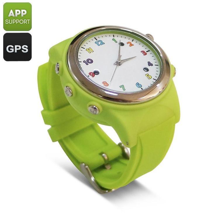 Kids Watch Phone With GPS Tracker - Traditional Quartz Design Digital Fence Familiar Number SOS Wireless Charging (Green)