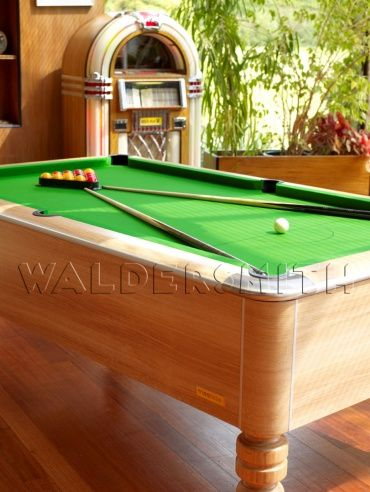 7ft Sandringham English Pool Table - The Sandringham has been engineered to perfection; a soundproofed Proactive cushion system provides the most consistent ball response possible during the game, and the playing area is bordered by smart chrome corner plates on the top frame.  A strong build, professional style and superb game-play all help cement the Sandringham's status as a premier English pool table, and the one that's used for all major English pool tournaments in both the UK and…