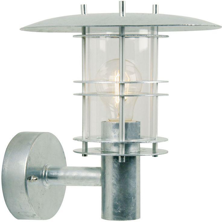 REA! Nordlux Fredensborg Vägglampa Galvaniserat stål 60W E27 IP54 - HemOchBastu.se