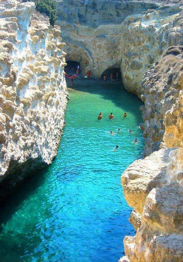 Papafragas Beach Milos Island, Greece