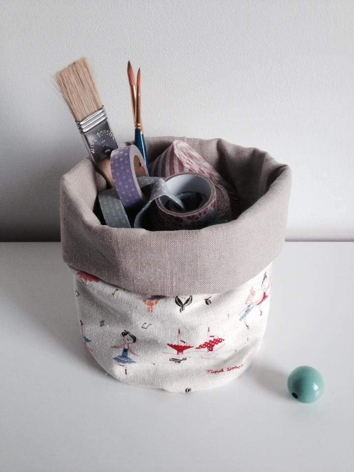 Handmade basket that you can use to keep your school supplies at one place