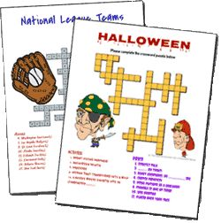 Crossword Puzzle Maker: tons of resources on this site...not just a crossword puzzle generator