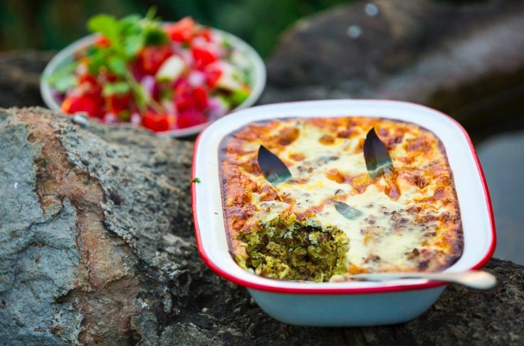 Lamb and Lentil Bobotie Serves 4–6 | Preparation time 20 minutes | Cooking time 35–40 minutes WHAT YOU'LL NEED 1 Tbsp olive oil 1 Tbsp butter 500g lamb mince 2 medium-sized onions, chopped 1 clove garlic, minced 1 apple, peeled, cored and grated 1 tsp grated fresh ginger 2 tsp medium curry powder 1 tsp … Continue reading Lamb and Lentil Bobotie