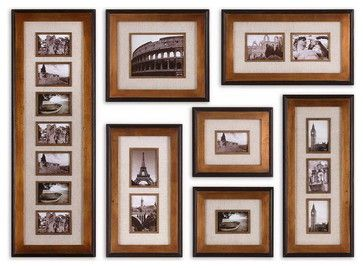 Seen on houzz - Uttermost 14459 Newark Hanging Photo Collage, S/7 - transitional - Frames - Eager House