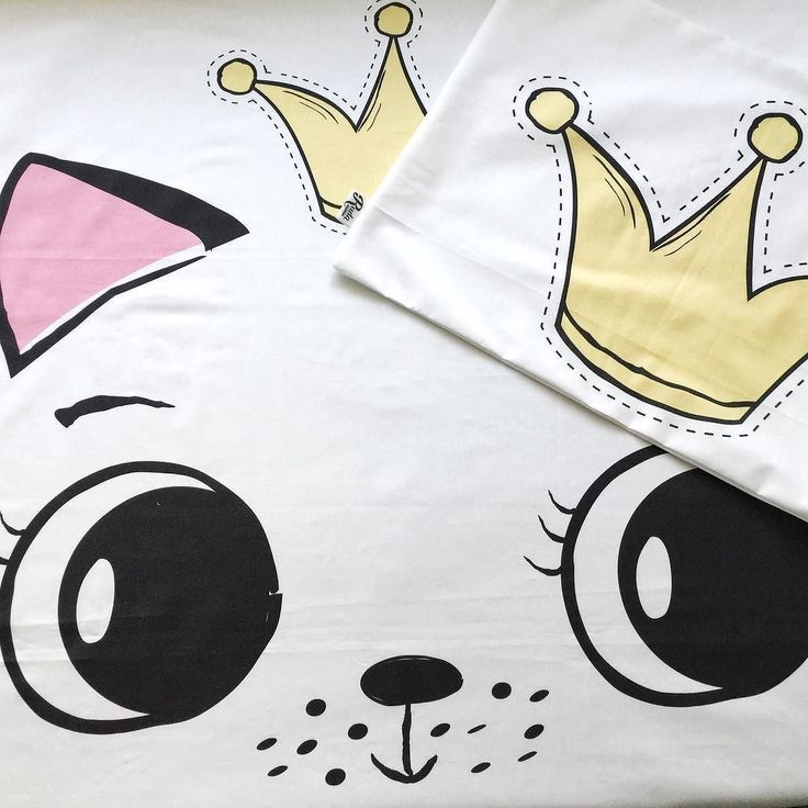 Pościel z kotkiem w koronie  #posciel #prezent #gift #bedding