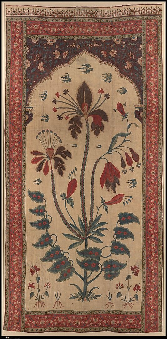 Panel from a Tent Lining (Qanat), 17th century. India, Deccan. The Metropolitan Museum of Art