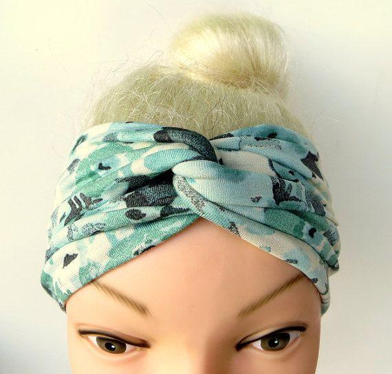 Hairband Headband Turban Twist Jersey Flowers by ragazzamagica