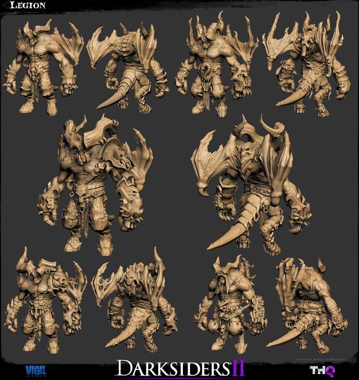 The Character Art of Darksiders IICharacter Art, 3D Character, Characterdesign, 3D Art, Character Design, Darksiders Ii, Image Pg, 3D Models, Cartoons Character