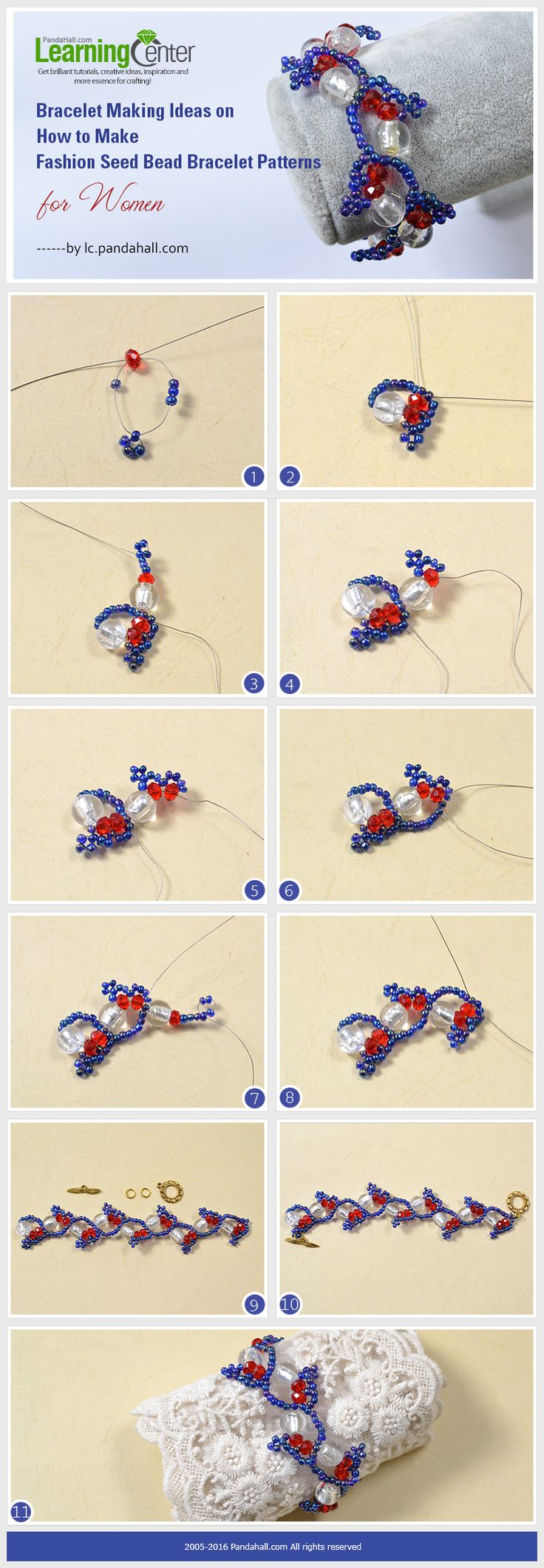 How to Make a Beaded Bracelet - Crazy Little Projects