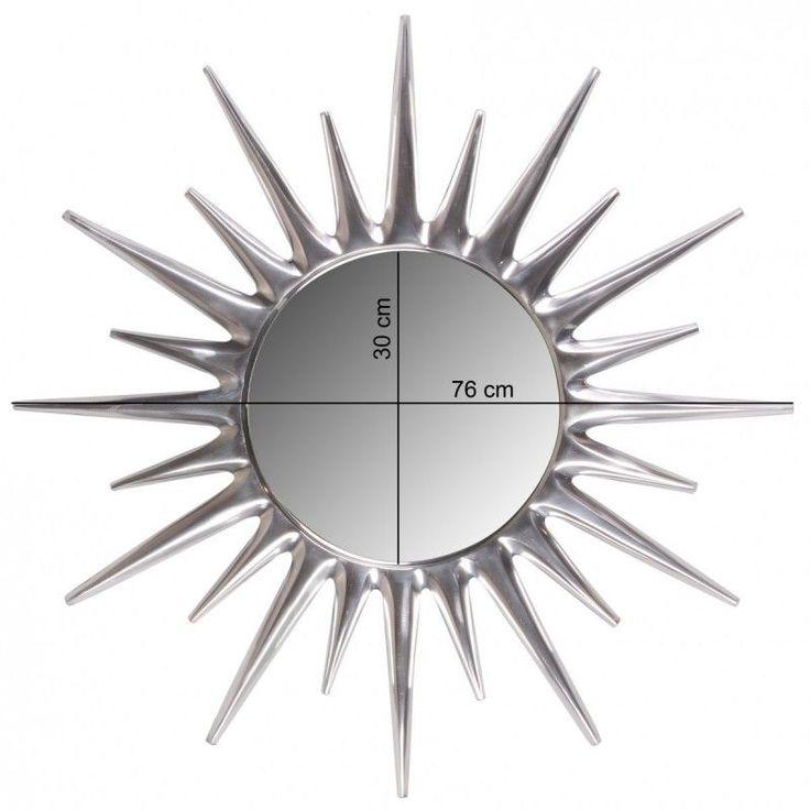 Luxury Wohnling Deko Wandspiegel Sunrise aus Aluminium Wanddekoration Farbe Silber Jetzt bestellen unter