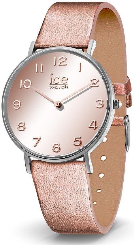 ice-watch Quarzuhr »CITY mirror - Rosegold - Small - 2H, 014435« für 99,00€. Angesagte Armbanduhr für Damen, Gehäuse aus Edelstahl, Ø ca. 36 mm bei OTTO