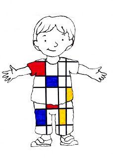 L'école d'Edouard et Norbert: A la manière de Piet Mondrian