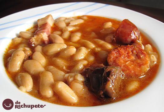 Fabada o Fabes. Receta tradicional asturiana. Principado de Asturias, #Spain