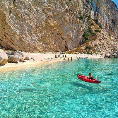 Aspri Ammos Beach, Othoni Island - Greece   love love love clear water! No guessing what's around you.