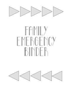 Sherbert Cafe: Family Emergency Binder